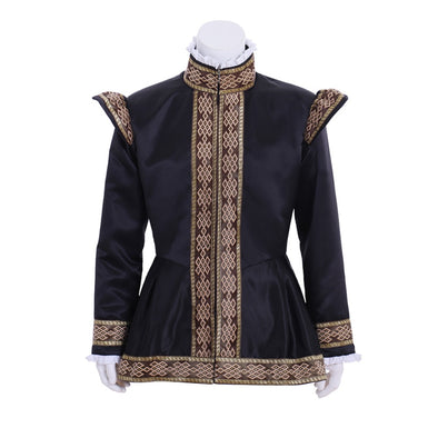 Custom Made Queen Elizabeth Tudor Period Cosplay Top Coat Jacket Medieval Renaissance Costume
