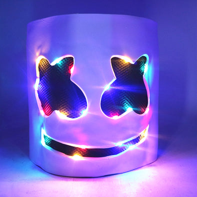 DJ mask Marshmello Face LED light masks helmets cosplay - Cosplay Infinity