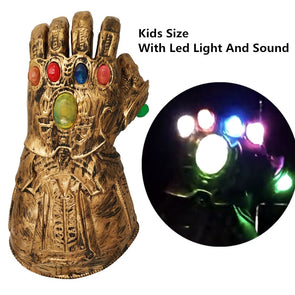 Kids Latex Gloves Thanos Infinity Gauntlet With Light Superhero Cosplay For Party Kids Anime Figure - Cosplay Infinity