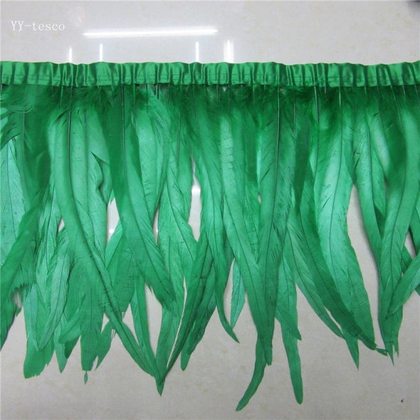 10-5-2yards Royal blue high quality natural rooster feather trims trimming 30-35cm, 12-14in - Cosplay Infinity