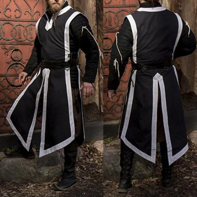 Cosplay Costumes Medieval Period Reenactment Tunic Templar Knight Crusader Surcoat Sleeveless Plus Size 5XL