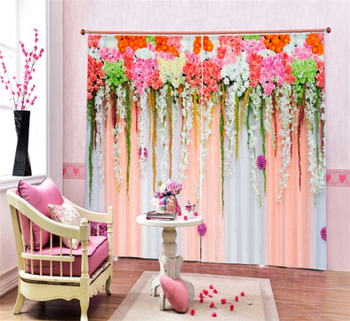 New Flowers 3D Blackout Window Curtains For Kids Room Living Room Bedroom Curtain Drapes