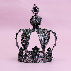 Metal Crown Royal King Queen Diadem Party Wedding Hair Accessory Cosplay Cake Ornaments
