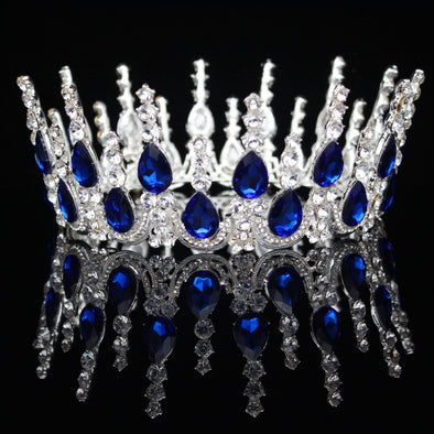 Baroque Silver Queen Princess Bridal Tiara Crowns Cosplay