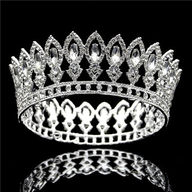 Luxury crystal tiaras and crowns rhinestone royal queen king wedding crown cosplay
