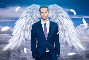 Paul Walker Actor Angel Wings Poster Print Silk Fabric art Wall Decor - Cosplay Infinity