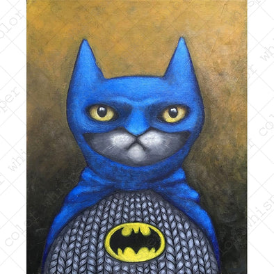 Cat Cosplay Batman Poster Painting Home Decor - Cosplay Infinity