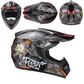 Motorcycle Full Face Adult motocross Off Road iron man Helmet ATV Dirt bike MTB DH racing