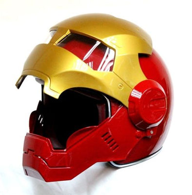 bike scooter moto Red golden Classic IronMan motorcycle helmet half helmet open face - Cosplay Infinity