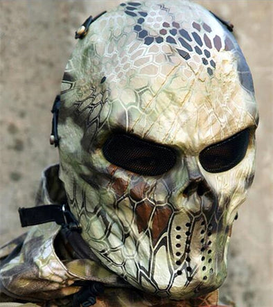 Kryptek-Highland Mandrake Nomad Typhon Iron Mask Captain Knight Airsoft CS Skull Field War Game Camo Zombie Warrior - Cosplay Infinity