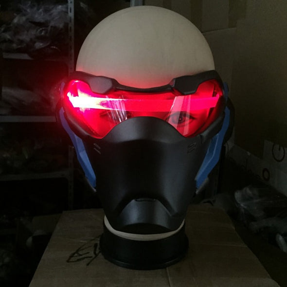 Watch pioneer warrior 76 death game LED light mask high-end motorcycle fan car Latex mask Cosplay Halloween props - Cosplay Infinity