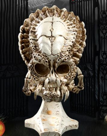 Alien Star Wars Movie theme skull of the iron warrior art statue home decoration