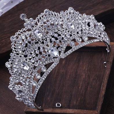Luxurious Wedding Queen Princess Large Rhinestone Crowns Tiaras Pageant Prom Bridal Crystal Hair Accessories - Cosplay Infinity