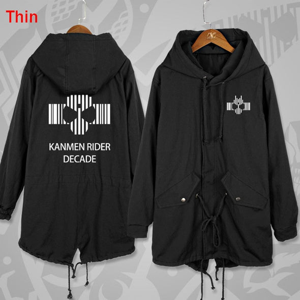 Anime Kamen Masked Rider Build Long Windbreaker Women Men Hoodie