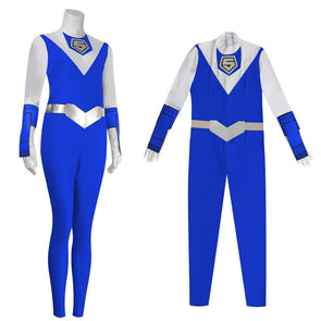 Japanese Anime Super Sentai Costumes MASKMAN BLUE MASK Akira Jumpsuits Cosplay Customized High-end