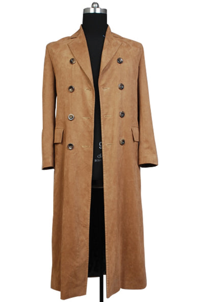Who is Doctor Dr Brown Outfit Trench Coat Business Suit Wool Cosplay Costume