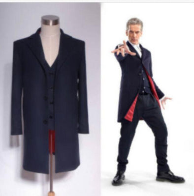 Doctor Who 12th Dr. Dark Blue Coat Vest Set Cosplay Costume S-XXL - Cosplay Infinity