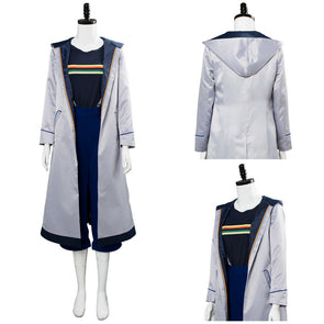Dr.Who Season 11 the 13th Doctor Jodie Whittaker Cosplay Costume Outfit Dress Coat Suit Halloween Costumes