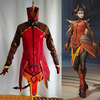 OW Angela Ziegler Cosplay Costume Mercy Demon Skin Adult Women Outfit