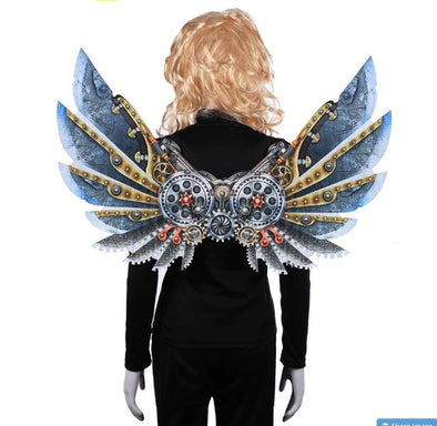 Burning Man Carnival Cosplay Party Steampunk Felt Wings Costume - Cosplay Infinity