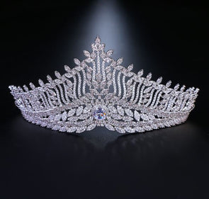 Top Quality Wedding Bridal Cubic Zirconia AAA Zircon Tiara CZ Crown