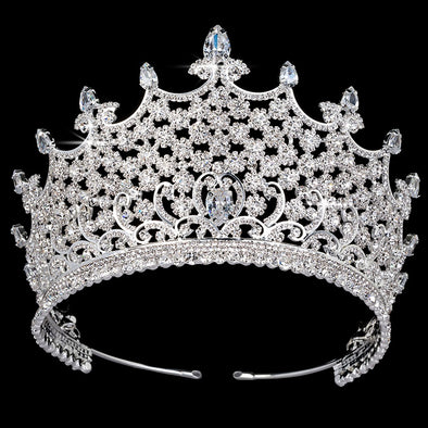AAA CZ Wedding Crown Luxury Rhinestone Bridal Hair Tiaras