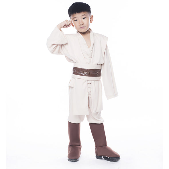 Boys Star Wars Deluxe Jedi Warrior Movie Character Cosplay Party Clothing Costume - Cosplay Infinity