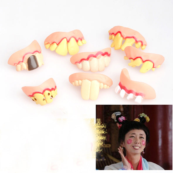 Scary Crooked Monster Teeth Prank Toy Startle Tooth Halloween Props  Funny Trick - Cosplay Infinity