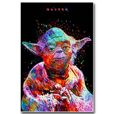 Yoda Star Wars 7 The Force Awakens Art Silk Poster Print Wall Decor - Cosplay Infinity