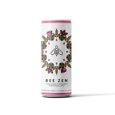 Bee Zen Rose Miel Bio cans 25cl