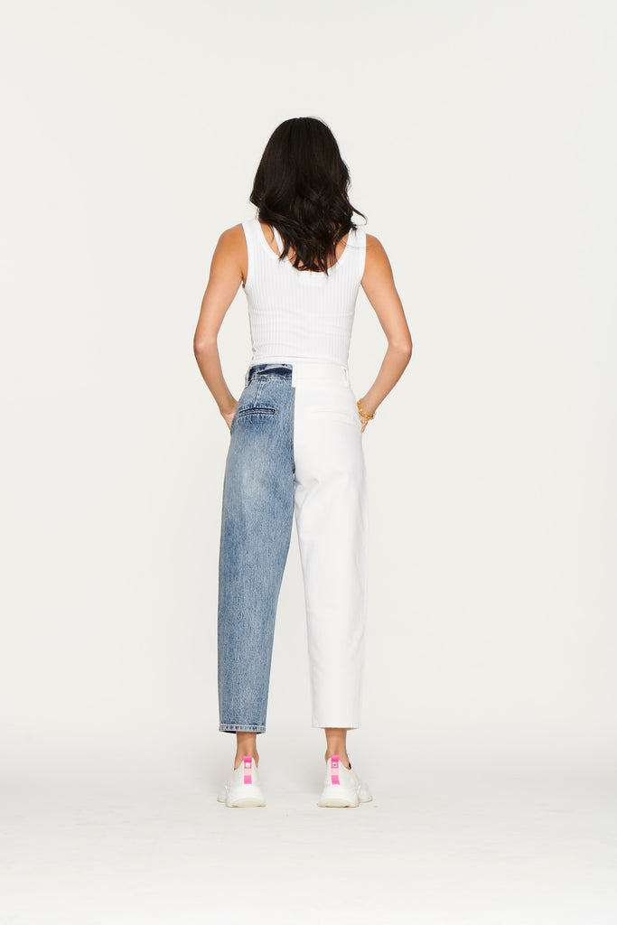 Happy Hour Pant In Angel Falls & White