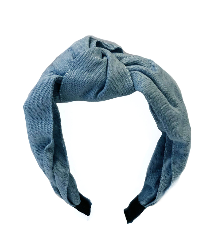 Got Me Twisted Denim Top Knot Headband