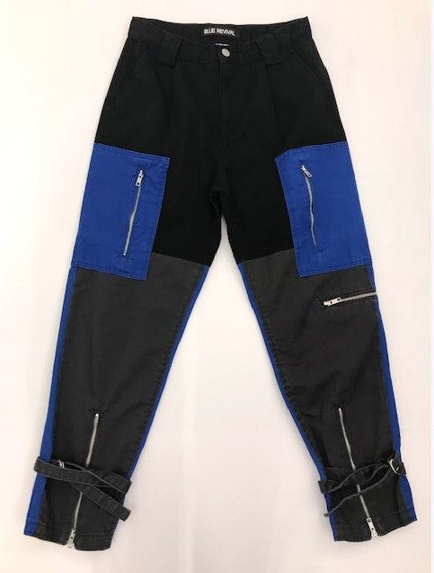 Rihanna Color block Utility Pant In Electric Blue