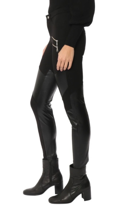 Hell On Wheels Unreal Leather &  Ponte Skinny