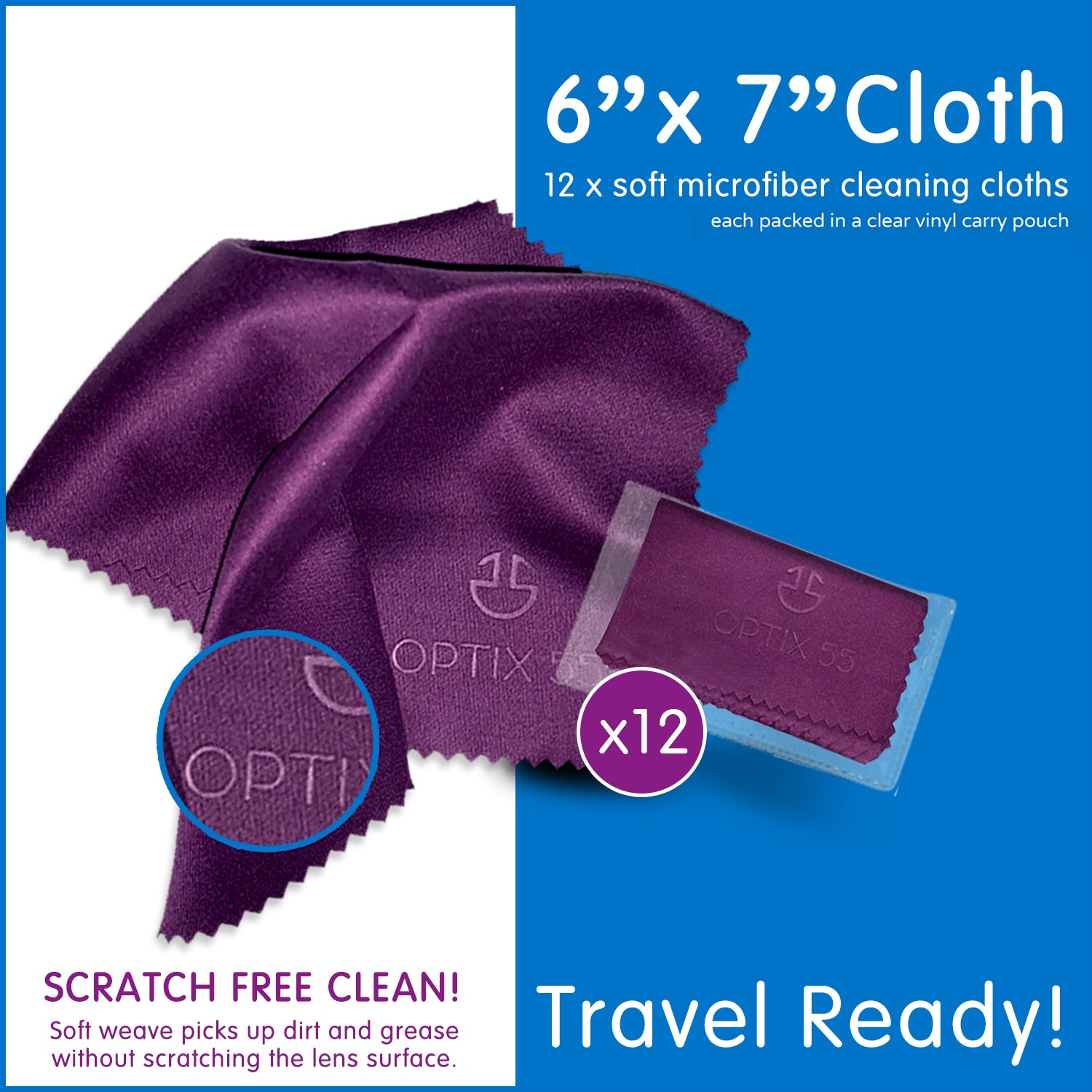 Microfiber Cleaning Cloths (12 Pack)
