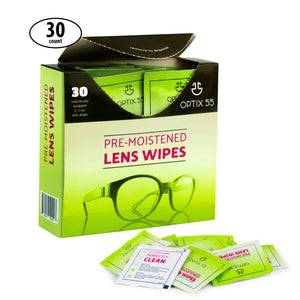 Pre-Moistened Lens Cleaning Wipes - Safely Cleans Glasses