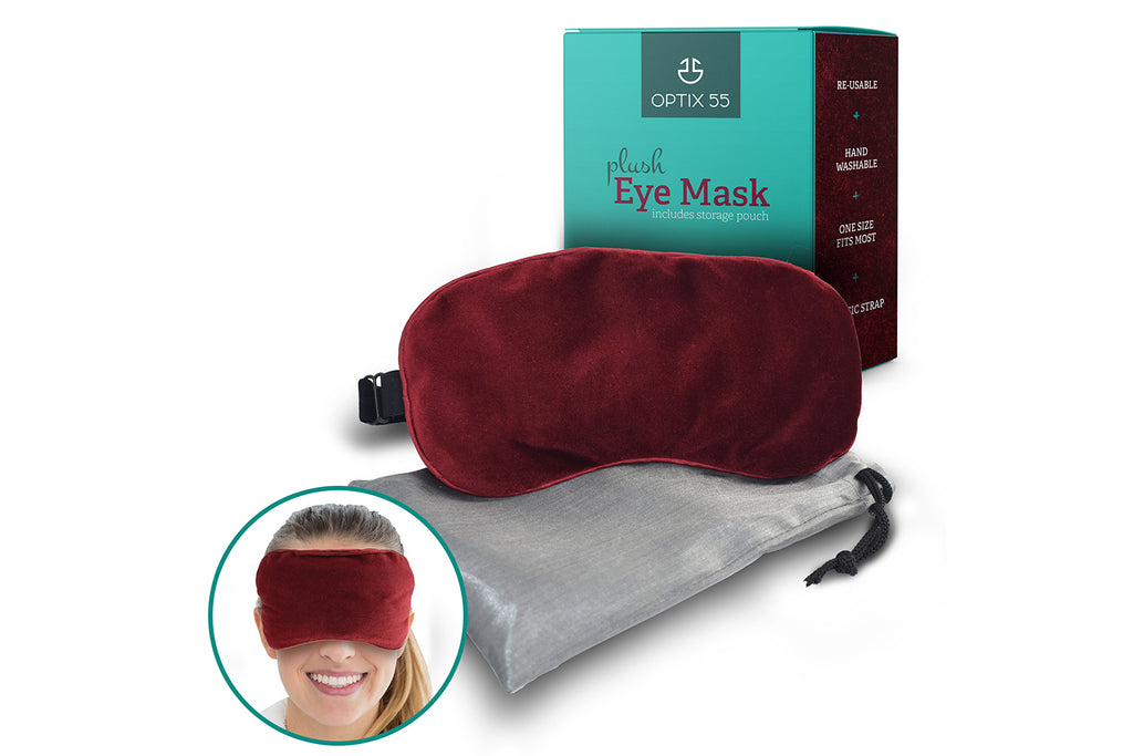 Ultra-Soft Plush Eye Mask Moist Heat Microwave Activated - Reusable