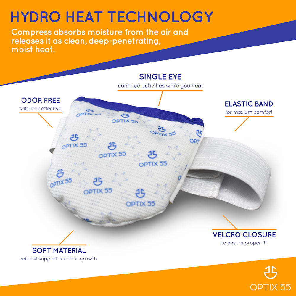 Single Moist Heat Eye Compress Pad