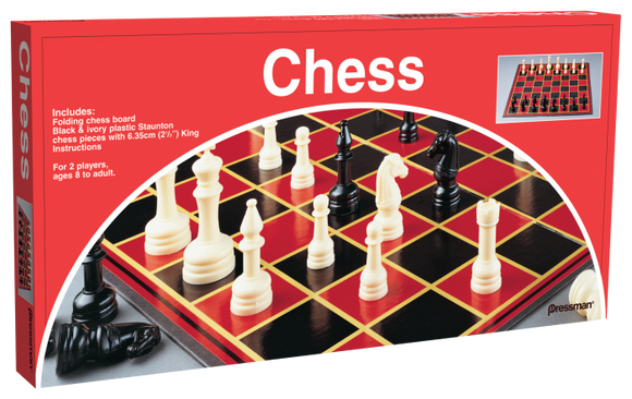 CHESS: Pressman - Chess With Folding Board