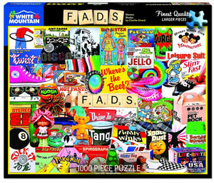COMING SOON - Fads (larger pieces) White Mountain 1000 pc Jigsaw Puzzle