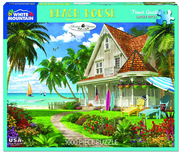 Beach House - White Mountain 1000 pc Jigsaw Puzzle (larger pieces)