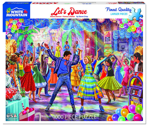 Let's Dance (larger pieces) White Mountain 1000 pc Jigsaw Puzzle