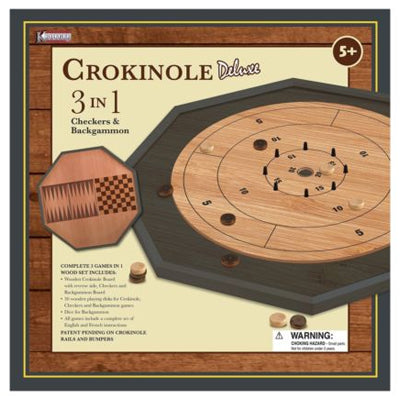 Crokinole - 3 in 1 Delux Board