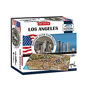4D Puzzles - Los Angeles History Over Time - 4D Cityscape 1400 pcs