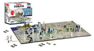 4D Puzzles - TOKYO: History Over Time - 4D Cityscape 1400+ pcs jigsaw puzzle