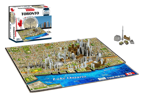 4D Puzzles - TORONTO: History Over Time - 4D Cityscape 1000+ piece jigsaw puzzle