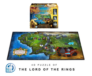 4D Puzzle - Lord Of The Rings: Middle Earth - 4D Cityscape 2100+ puzzle pieces