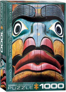 Totem Pole Comox Valley BC- EuroGraphics 1,000 piece Jigsaw Puzzle