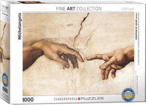 Fine Art (Michelangelo) Creation of Adam (Detail) - Eurographics 1,000 piece Jigsaw Puzzle