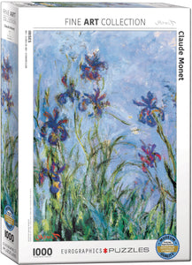 Fine Art (Monet) Irises (Detail) - EuroGraphics 1,000 piece Jigsaw Puzzle